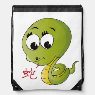 Year of Snake  Drawstring Backpack Backpacks