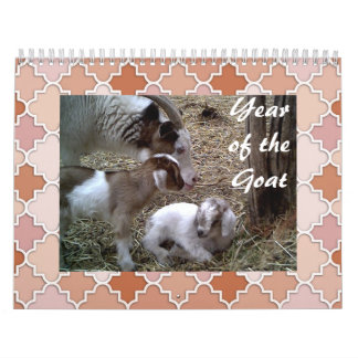 """Year of the 'Baby"""" goat Wall Calendar"""