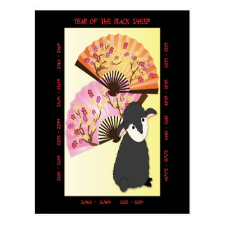 Year of the Black Sheep Postcard