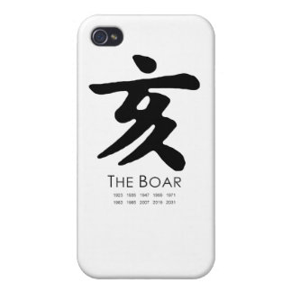 Year of the Boar Cases For iPhone 4