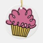 Year of the Cupcake Ceramic Ornament