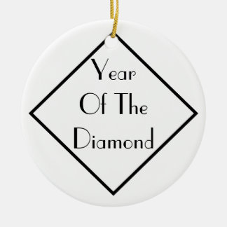 Year Of The Diamond Double-Sided Ceramic Round Christmas Ornament