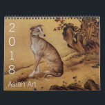 """Year of the Dog 2018 Asian Art Calendar<br><div class=""""desc"""">Selection of Japanese,  Korean and Chinese painting with animals and flowers. Perfect for Chinese New Year Of The Dog 2018.</div>"""