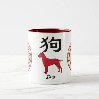 Year of the dog Two-Tone coffee mug