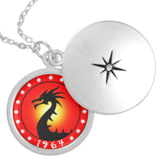 Year of the Dragon 1964 Locket Necklace