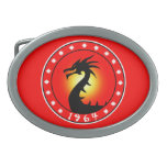 Year of the Dragon 1964 Oval Belt Buckles