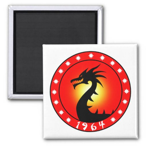 Year of the Dragon 1964 Refrigerator Magnet