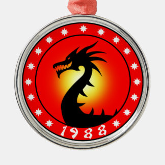 Year of The Dragon 1988 Metal Ornament