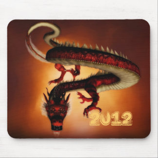 Year of the dragon 2012 red mousepad