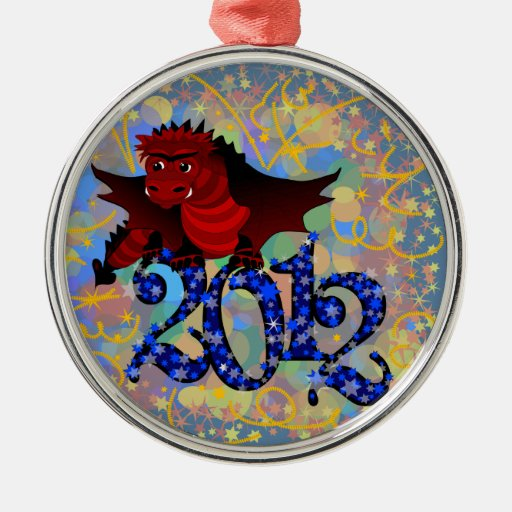 Where To Buy Christmas Decorations Year Round: Year Of The Dragon, 2012 Round Metal Christmas Ornament