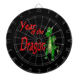 Year Of The Dragon 2 Dartboard With Darts