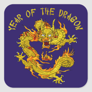 Year Of The Dragon 3 Square Sticker