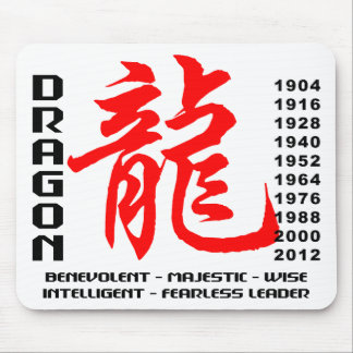 Year of The Dragon Characteristics Mouse Pad
