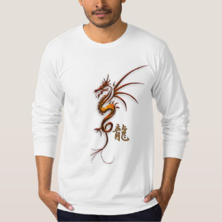 "Year of the ""DRAGON"" Chinese Copper Dragon & Kanji T-Shirt"