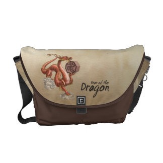 Year of the Dragon Chinese Zodiac Art Courier Bags