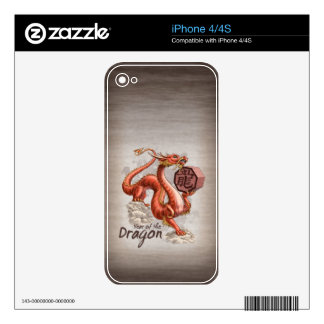 Year of the Dragon Chinese Zodiac Art Decal For The iPhone 4S