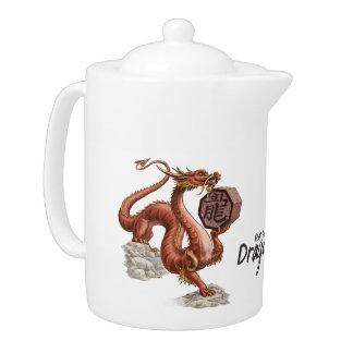 Year of the Dragon Chinese Zodiac Art Teapot
