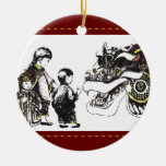 Year of the Dragon Christmas Tree Ornaments