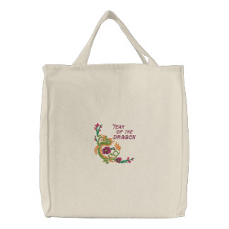 Year of the Dragon Embroidered Totebag Bags