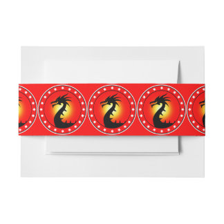 Year of the Dragon Invitation Belly Band