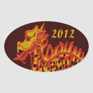 Year of the Dragon Oval Sticker
