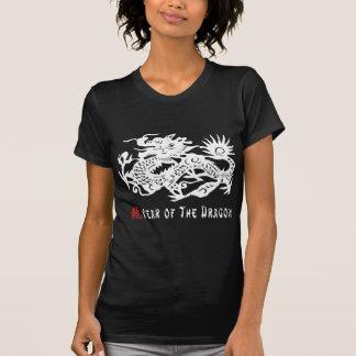 Year of The Dragon Paper Cut Dark T-Shirt