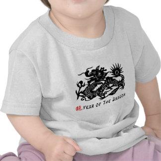 Year of The Dragon Paper Cut T-Shirt Tshirt