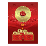 year of the dragon party invitation - new year