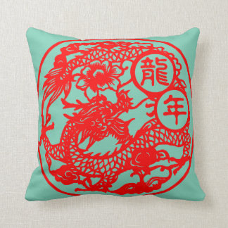 """""""Year Of The Dragon Pillow"""" Throw Pillow"""