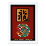 Year of the Dragon rectangle Invites