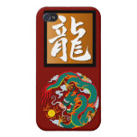 Year of the Dragon rectangle iPhone 4/4S Covers