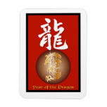 Year of the Dragon rectangle Vinyl Magnets