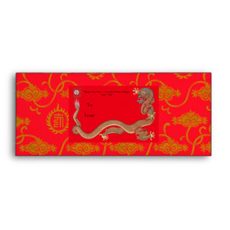 Year of the Dragon ~ Red Gift  Envelope