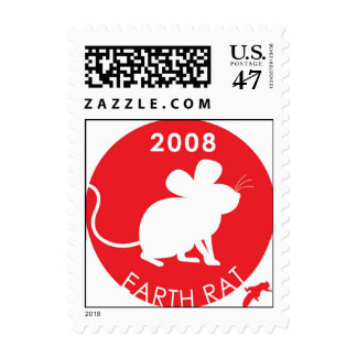 YEAR OF THE EARTH RAT 2008 POSTAGE
