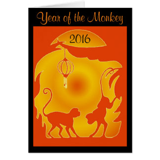 Year of the Fire Monkey Greeting Card