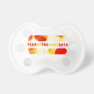 year of the goat 2015 (bokeh) pacifier