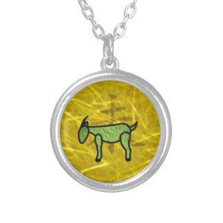 Year of the Goat Round Pendant Necklace