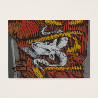 Year Of the Goat Sheep Ram Graffiti Business Card