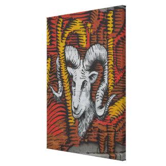 Year Of the Goat Sheep Ram Graffiti Canvas Print