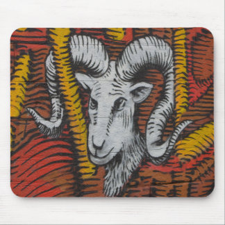Year Of the Goat Sheep Ram Graffiti Mouse Pad