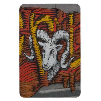 Year Of the Goat Sheep Ram Graffiti Rectangle Magnets