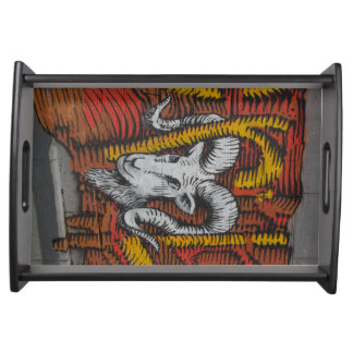 Year Of the Goat Sheep Ram Graffiti Serving Tray