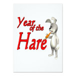 Year Of The Hare 5x7 Paper Invitation Card