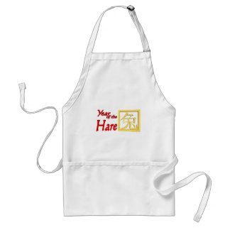 Year of the Hare Gifts and Apparel Adult Apron