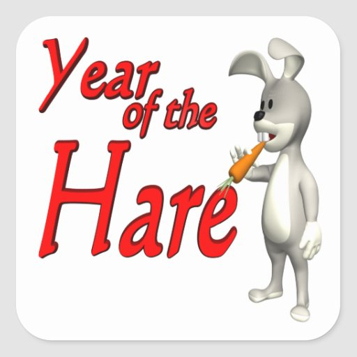 Year Of The Hare Square Sticker