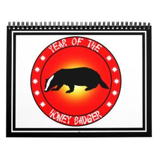 Year of the Honey Badger Calendar