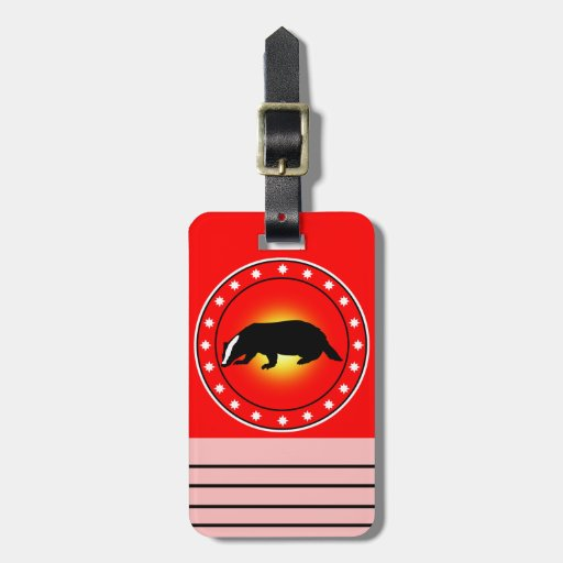 Year of the Honey Badger Luggage Tag
