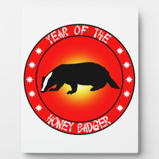 Year of the Honey Badger Display Plaque