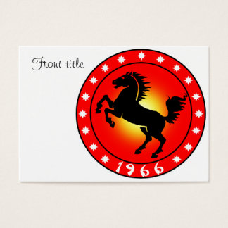 Year of the Horse1966 Business Card