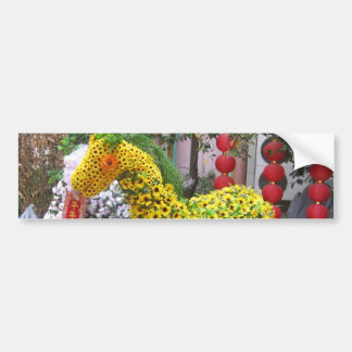 Year of the Horse | 春節馬 ... Chinese Flower Topiary Bumper Sticker